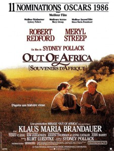 Affiche du film Out of Africa : Souvenirs d'Afrique