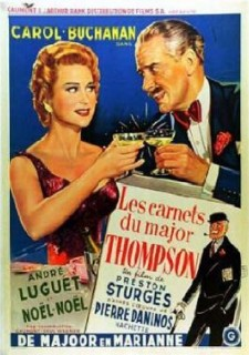 Affiche du film Les carnets du Major Thompson