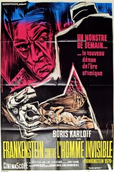 Affiche du film Frankenstein contre l'homme invisible