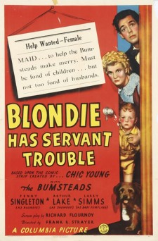 Affiche du film Blondie Has Servant Trouble