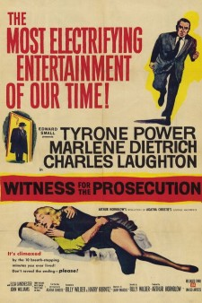 affiche du film Witness for the Prosecution