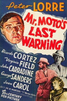 Affiche du film Mr. Moto's Last Warning