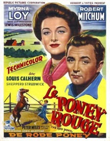 Affiche du film Le poney rouge