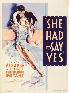 Affiche du film She Had to Say Yes