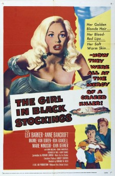 Affiche du film The Girl in Black Stockings