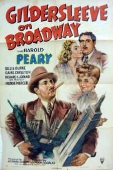 Affiche du film Gildersleeve on Broadway