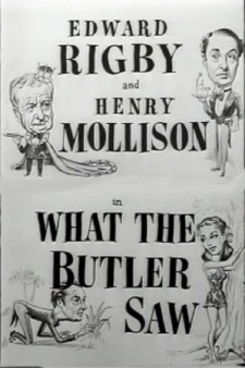 Affiche du film What the Butler Saw