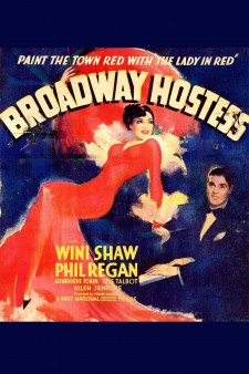 Affiche du film Broadway Hostess
