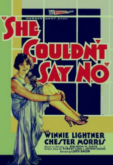 Affiche du film She Couldn't Say No