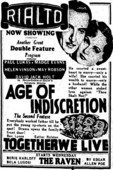 Affiche du film Age of Indiscretion