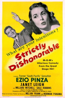 Affiche du film Strictly Dishonorable