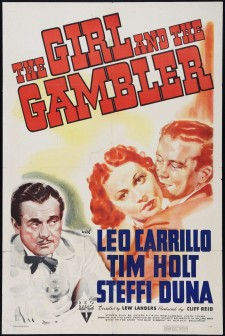 Affiche du film The Girl and the Gambler