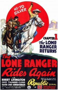 affiche du film The Lone Ranger Rides Again