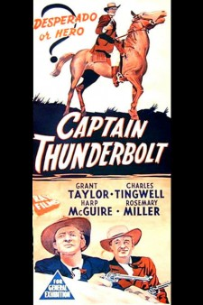 Affiche du film Captain Thunderbolt