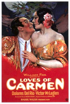 Affiche du film The Loves of Carmen