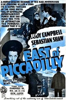 Affiche du film East of Piccadilly