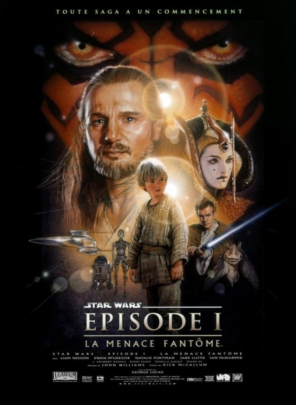 Affiche du film Star Wars épisode I : La menace fantôme