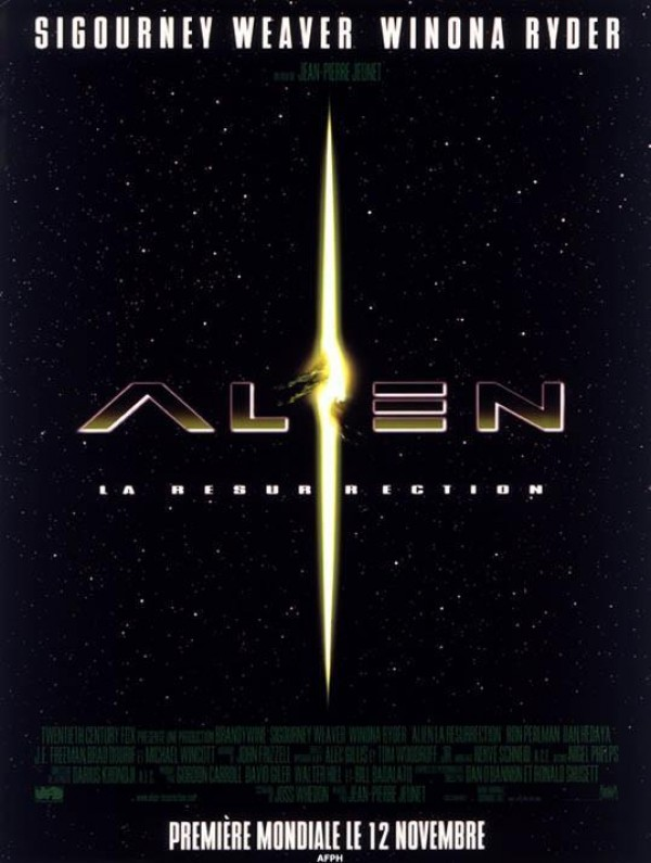 Affiche du film Alien : la résurrection