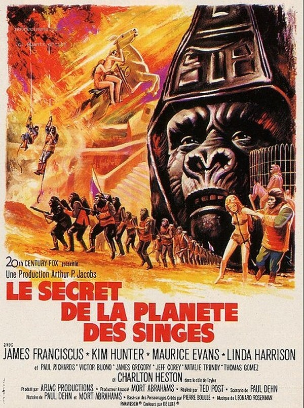 Affiche du film Le secret de la planete des singes