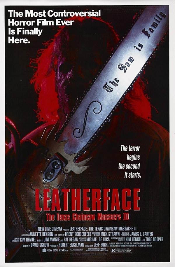 Affiche du film Massacre à la tronçonneuse 3 : Leatherface
