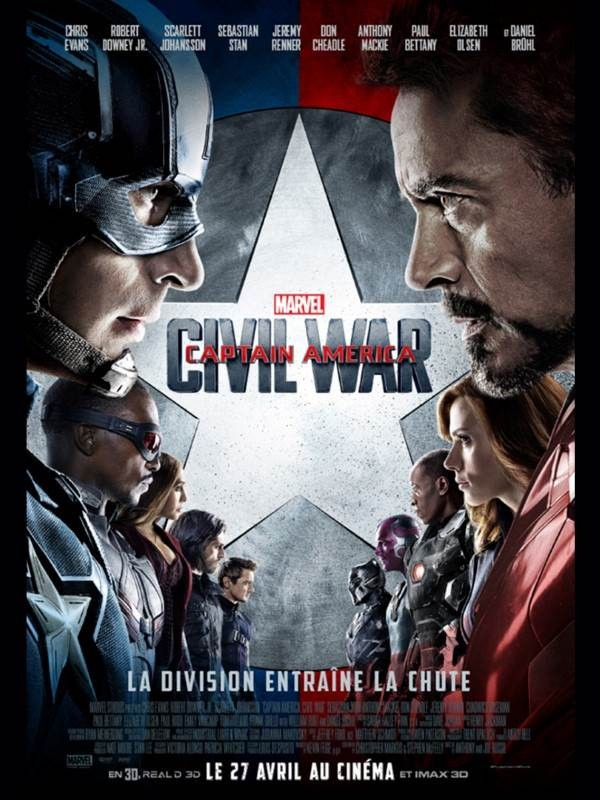 Affiche du film Captain America: Civil War