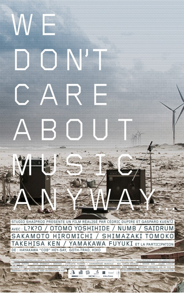 Affiche du film We Don't Care About Music Anyway
