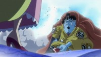 Offering up a Sake Cup! Chivalrous Jinbe repays his debt!