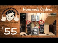 The homemade wooden dust collection cyclone (Bill Pentz design)