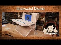Build a homemade horizontal router machine- (Part 1 of 2)