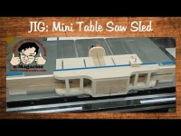 Make a mini table saw sled with joinery jig attachments (box joint, tenon, spline)