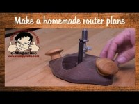 Make a homemade, fully featured woodworking router plane with common materials!
