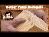 EASY router table dovetails that LOOK HAND CUT, with a simple jig