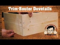 SIMPLE JIG- Handheld router dovetails that LOOK HAND CUT