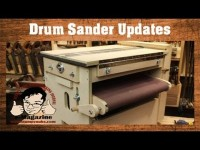 UPDATED Homemade TWO STAGE drum sander with Sand Flea and feed belt