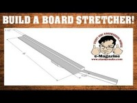 NO JOKE- How to make a 'Board Stretcher' to make a work-piece longer! (Woodworking scarf joint)