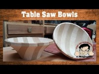 How to turn a bowl on a FREAKING TABLE SAW