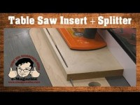 Make SAFER, cleaner table saw cuts with this splitter+zero clearance insert