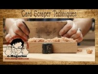 Easy card/cabinet scraper tips and techniques for woodworkers