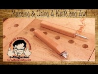 2 Homemade Hand Tools- Making and using a marking knife & awl for woodworking