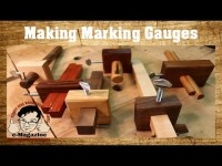 3 Easy to Make Homemade Woodworking Marking Gauges (Mortise_Cutting)