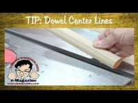 How to accurately draw a line down the center of a dowel