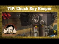 Stop misplacing your drill press chuck key