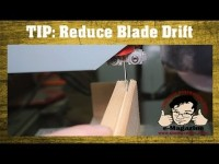 How to reduce blade drift while re-sawing on the band saw