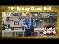 Make a clamp rack from an old belt