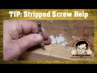 Remove a stripped screw without a special tool