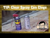 How to unclog a spray can nozzle (and avoid it too!)