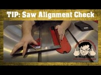 Check your table saw alignment quickly and easily