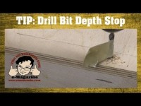 Quick, cheap and easy drill bit depth stop