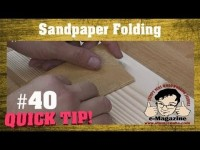A BETTER WAY to fold sandpaper for hand-sanding wood