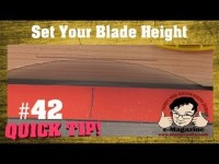 TIP - How to set your table saw blade to the perfect height EVERY TIME